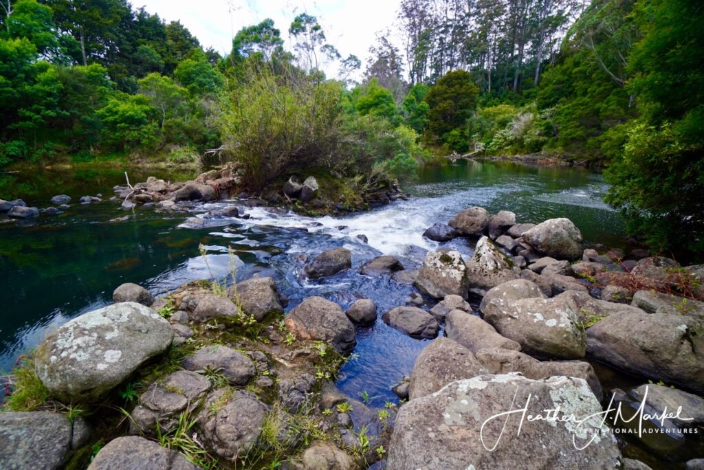 The Fairy Pools in Kerikeri, New Zealand.