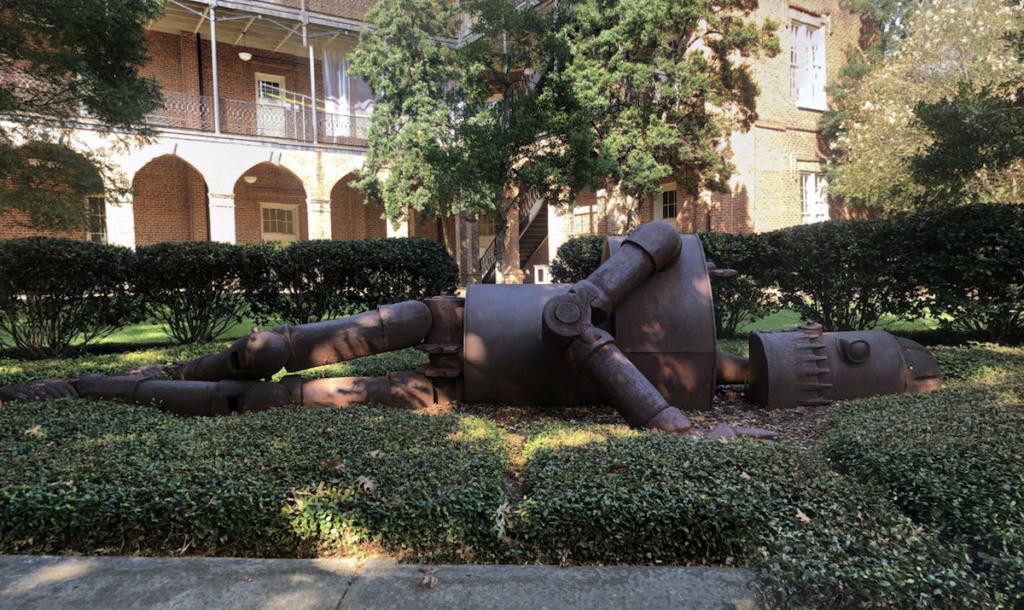 The Fallen Robot in Tuscaloosa, Alabama.