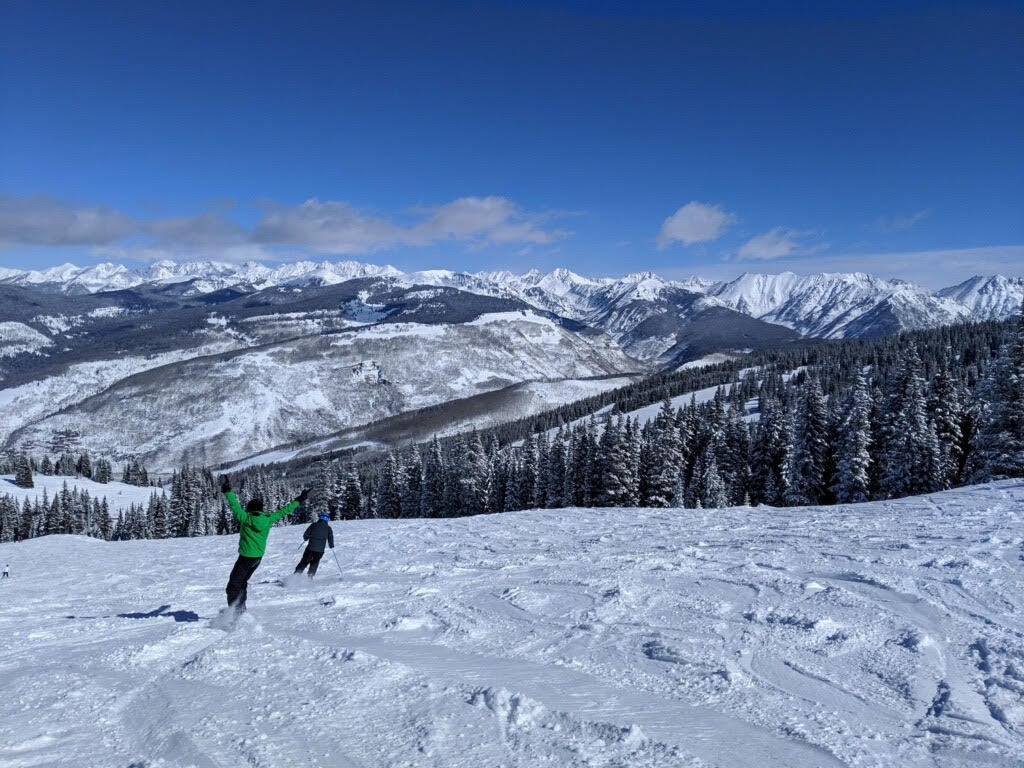 The famous black bowls in Vail, Colorado.