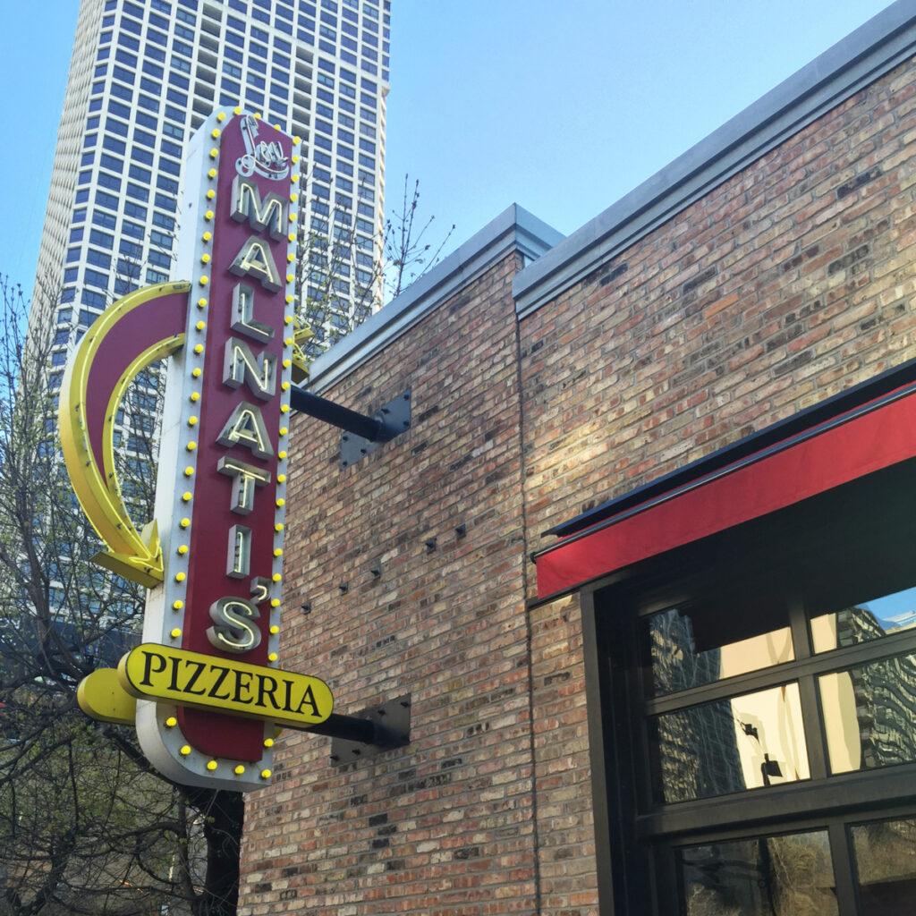 The famous Lou Malnati's Pizzeria.