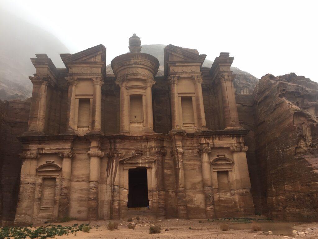 The famous Monastery in Petra, Jordan.