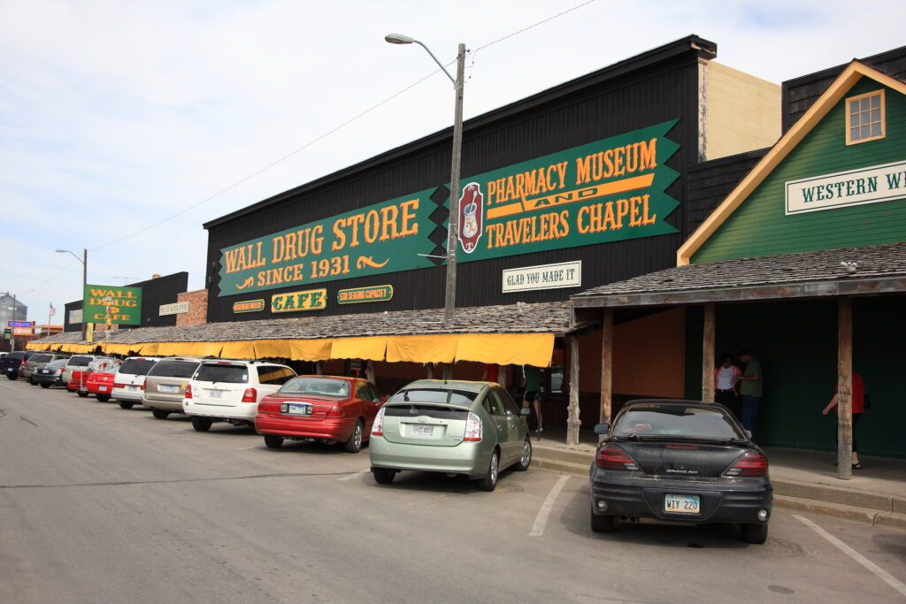 The famous Wall Drug store in Wall, South Dakota.