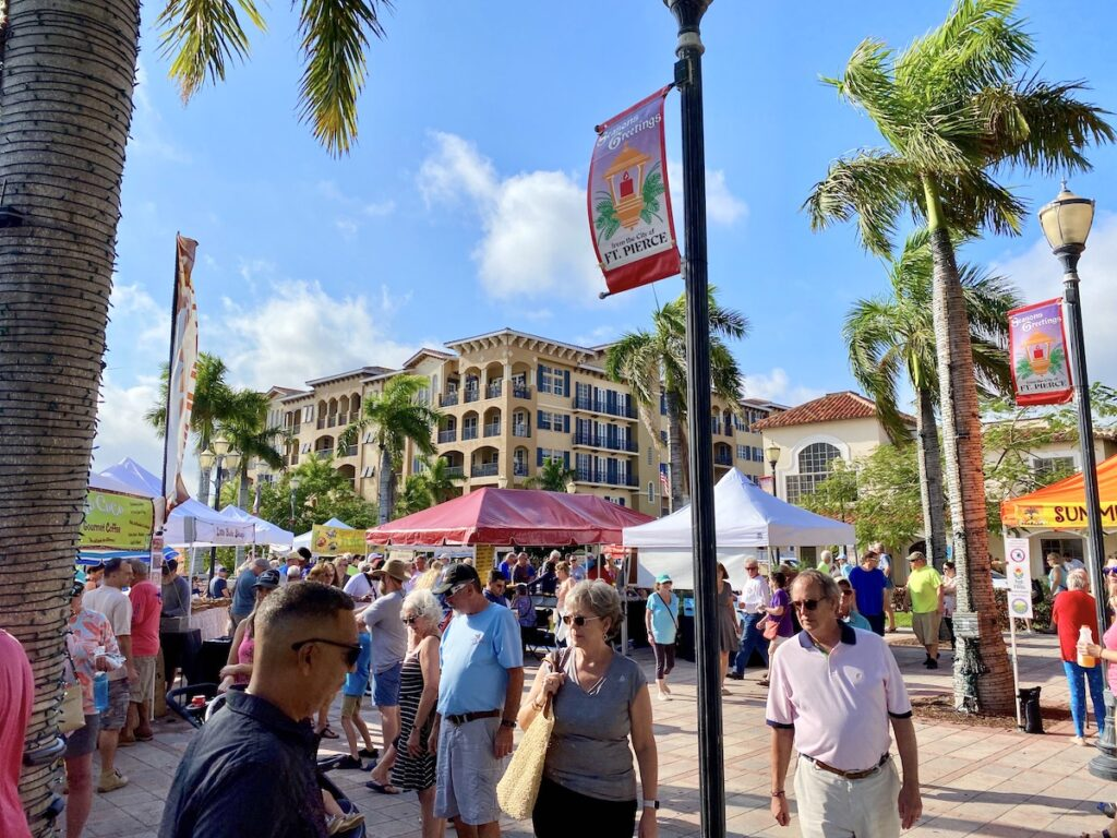 The farmers' market in Fort Pierce, Florida.