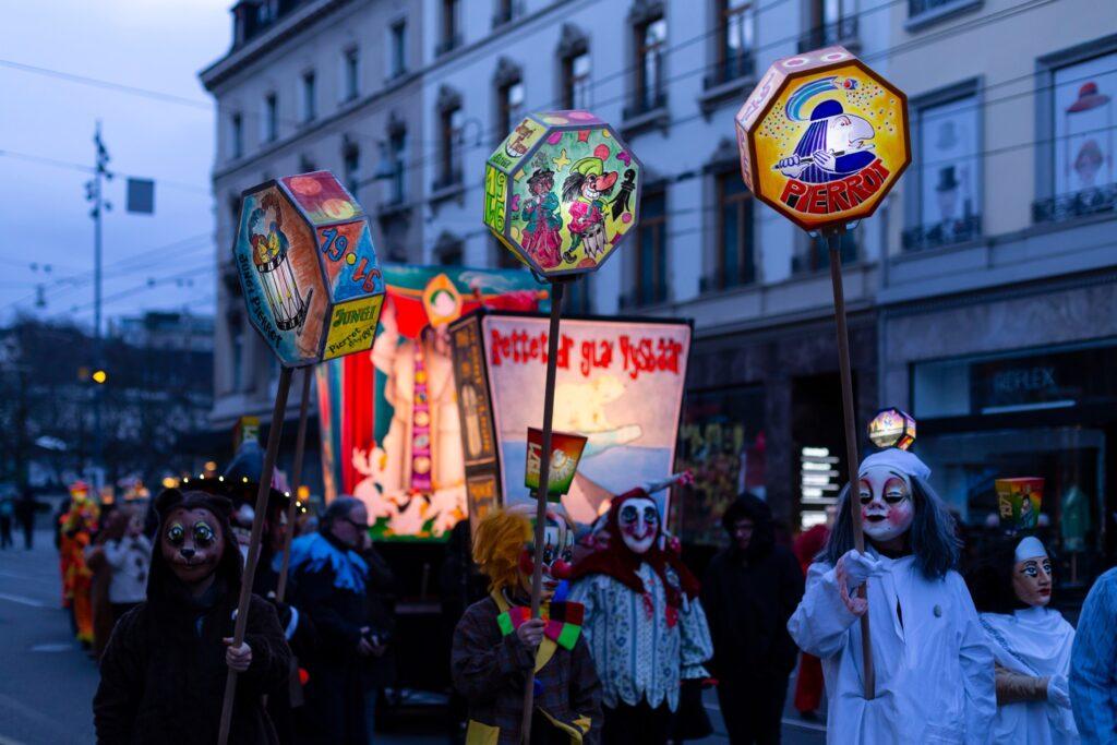 The Fasnacht Carnival in Basel, Switzerland.