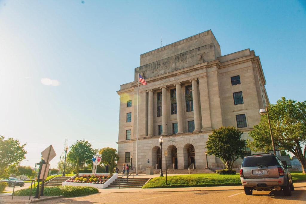 The federal courthouse in Texarkana.