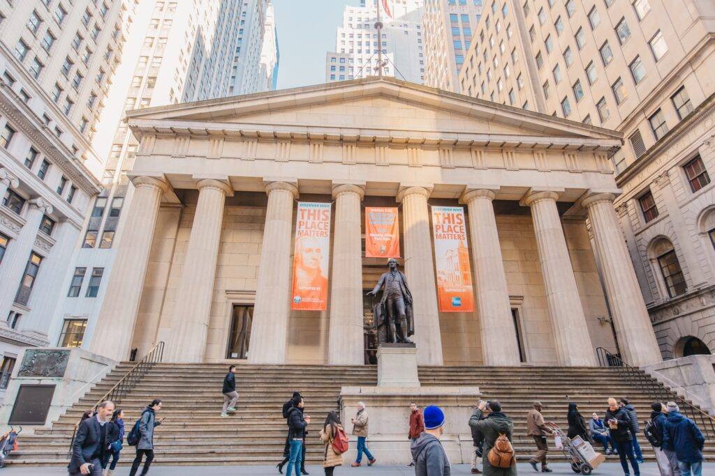 The Federal Hall National Memorial in New York City.
