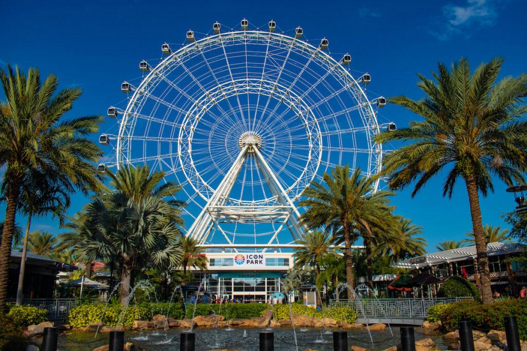 The ferris wheel at Icon Park in Orlando, Florida.
