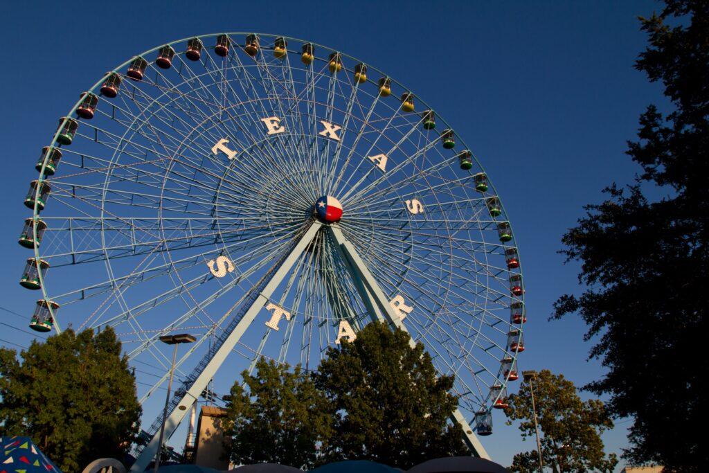 The Ferris wheel at the Texas State Fair