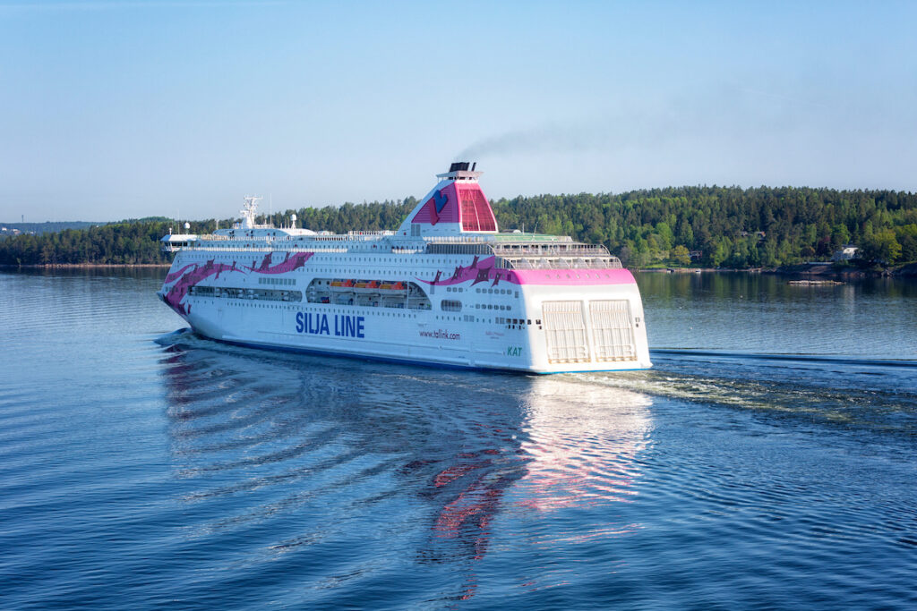 The ferry from Stockholm, Sweden, to Helsinki, Finland.