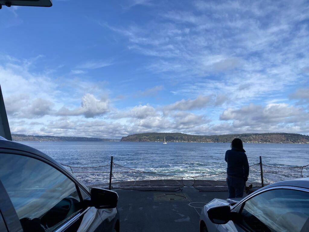 The ferry ride to Vashon Island.