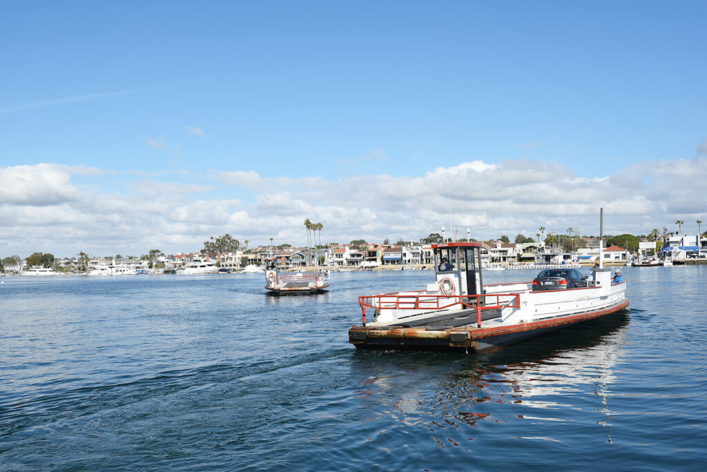 The ferry to Balboa Island, California.
