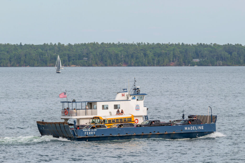 The ferry to Madeline Island in Wisconsin.