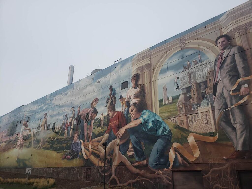 The Fertile Ground Mural in Omaha.