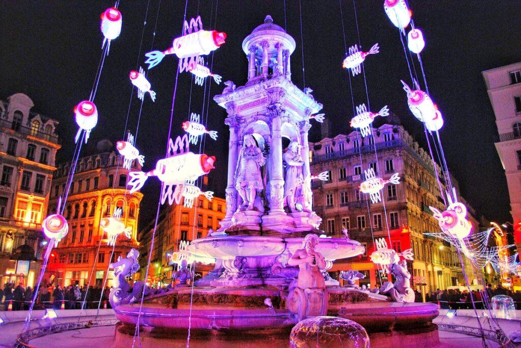 The Festival of Lights in Lyon, France.