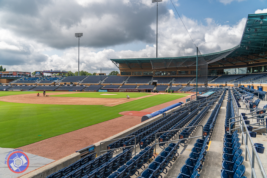 The field at the Durham Bulls Athletic Park.