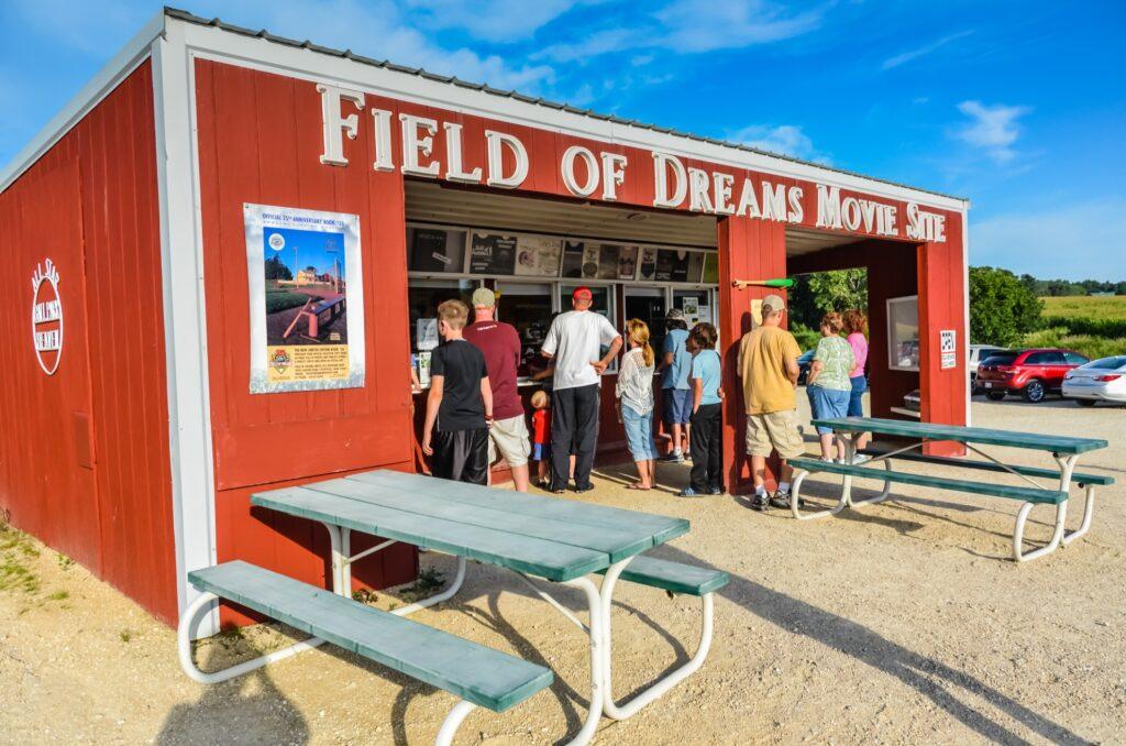The Field of Dreams movie set in Dyersville, Iowa.