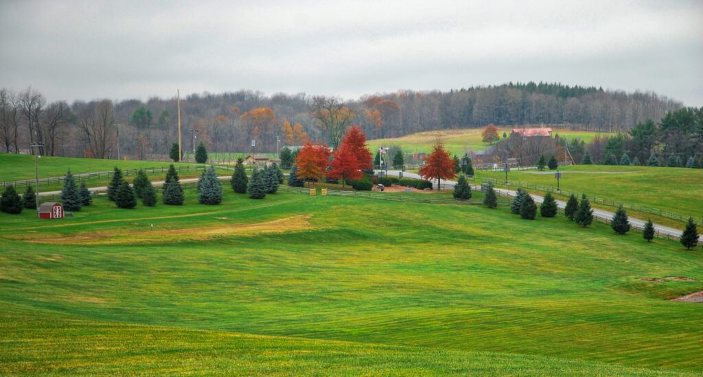 The field where Woodstock took place in 1969.