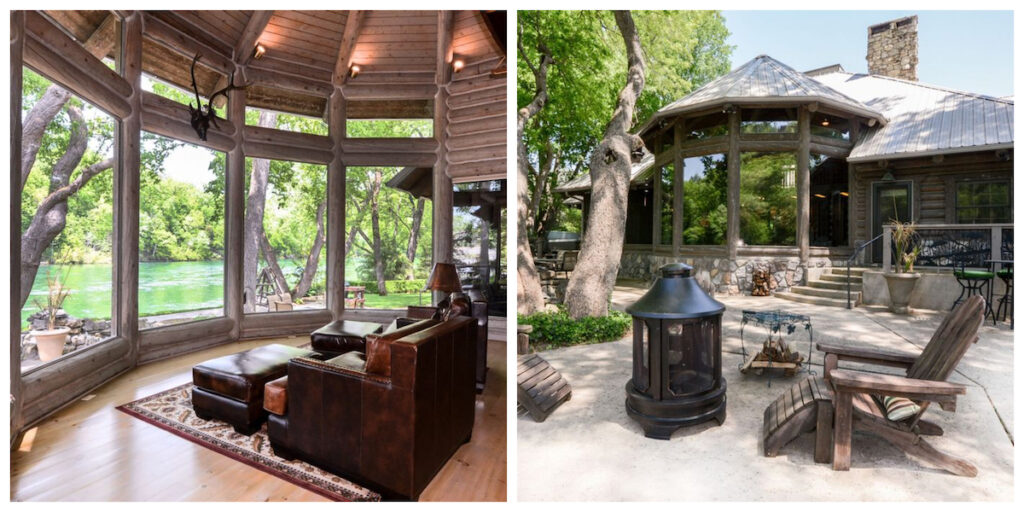 The Finisterra Lodge cabin rental in Missouri.