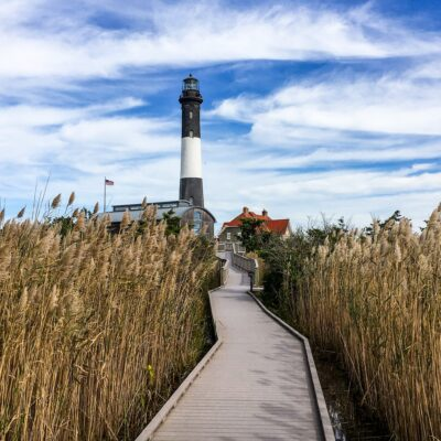The Fire Island Lighthouse in New York.