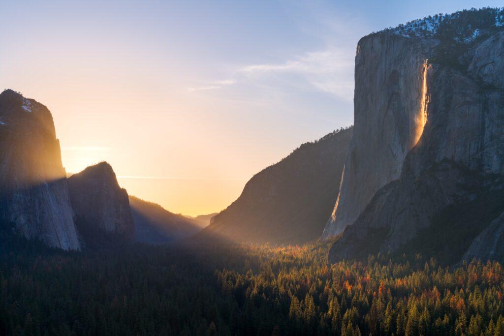 The Firefall at Yosemite.