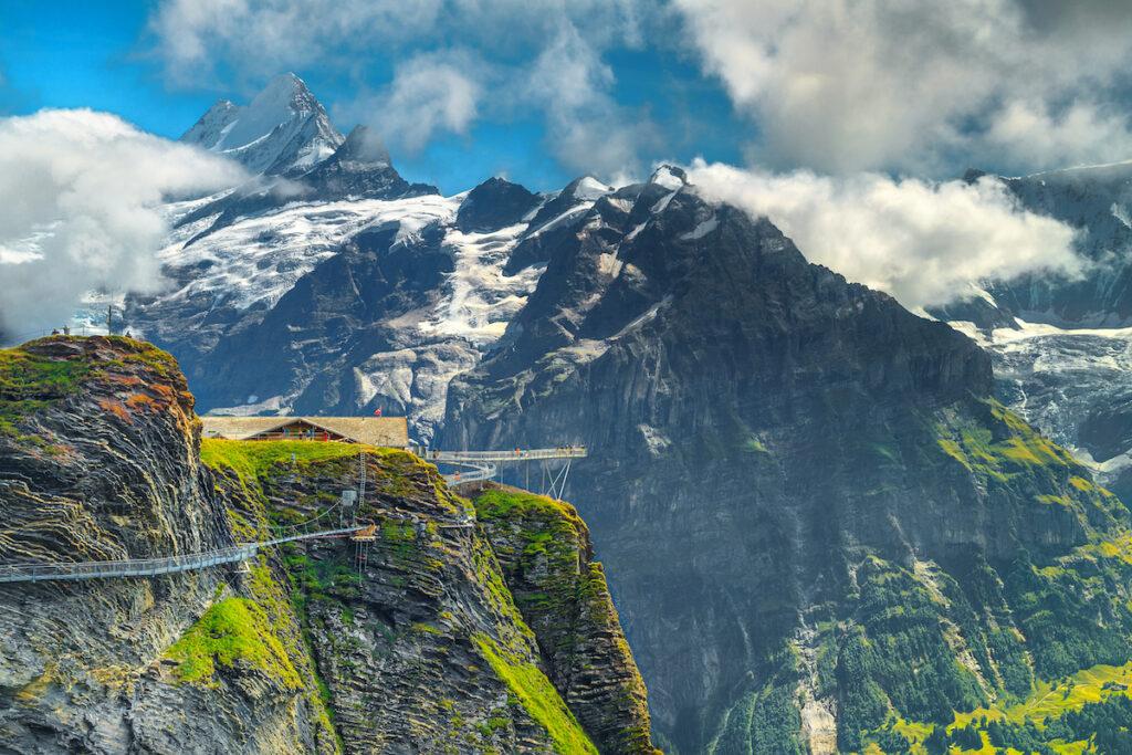 The First Cliff Walk in Grindelwald, Swizterland.