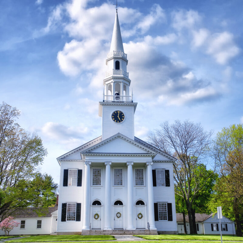 The First Congregational Church in Litchfield, Connecticut.
