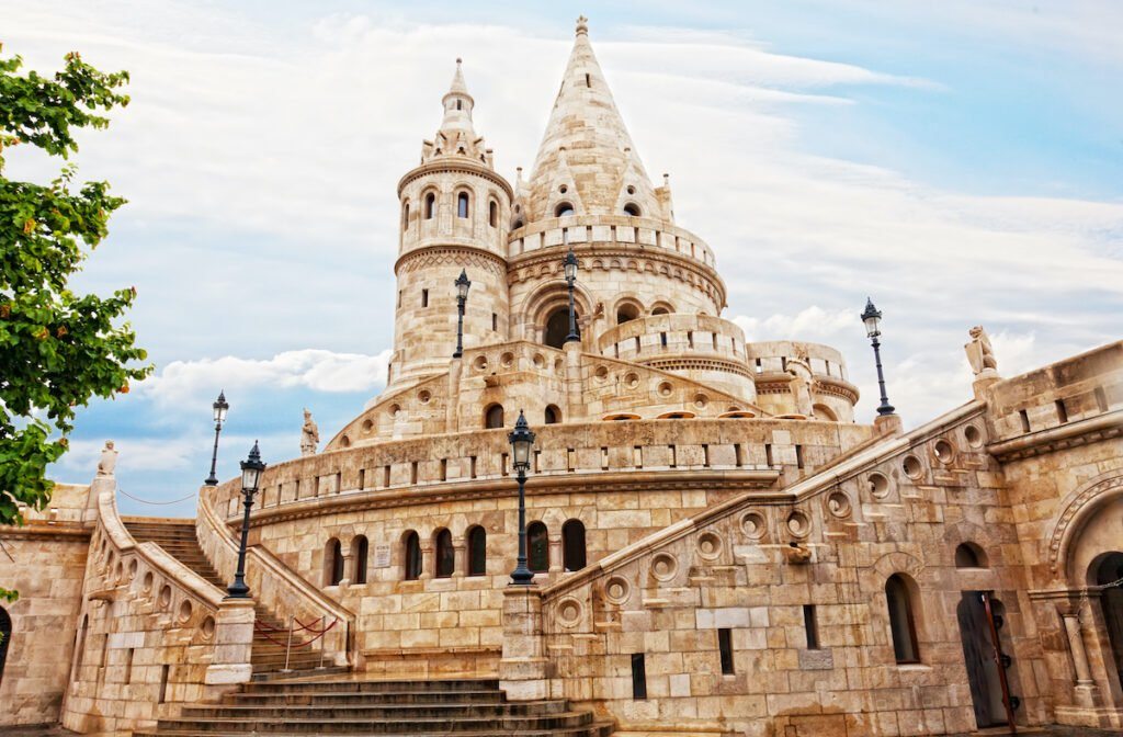 The Fisherman's Bastion on Buda Castle Hill in Hungary.