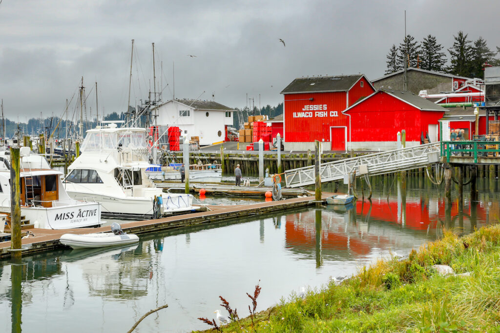 The fishing port of Ilwaco, Washington.