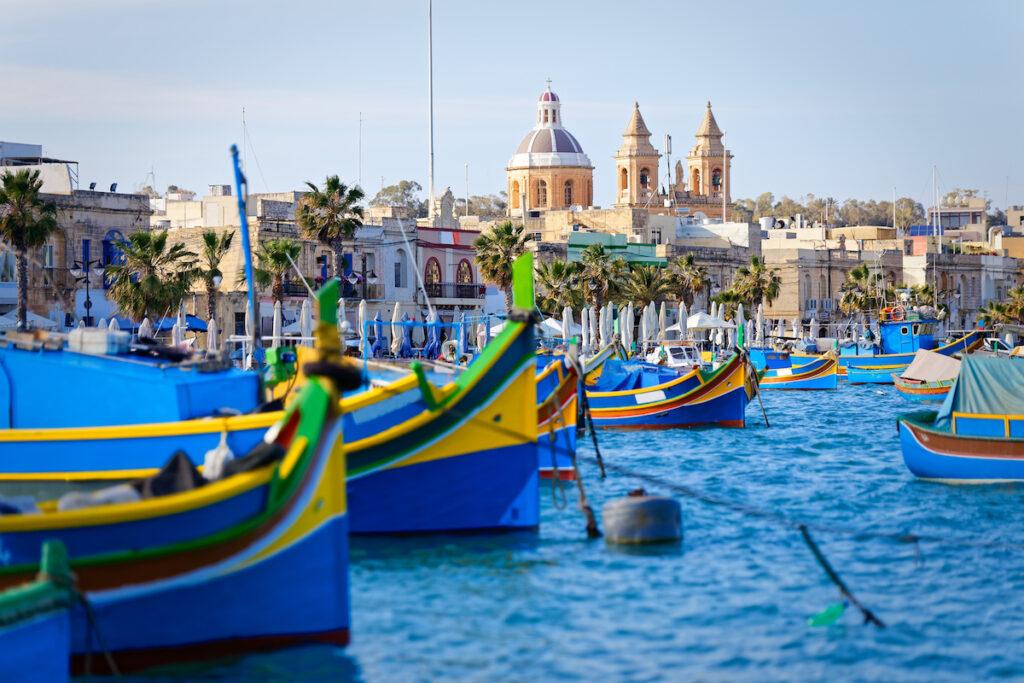 The fishing village of Marsaxlokk, Malta.