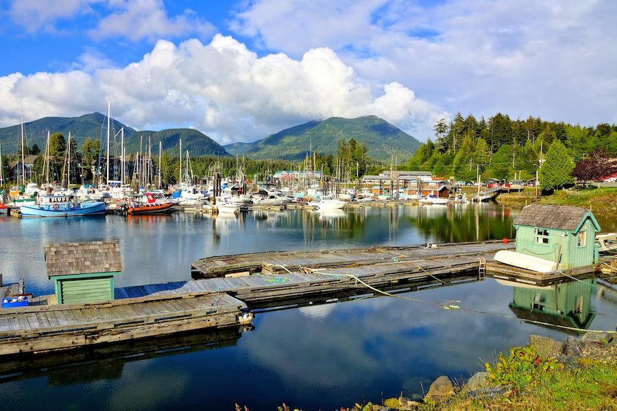 The fishing village of Ucluelet, Canada.