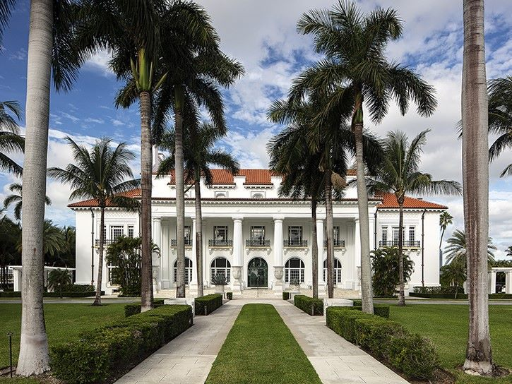The Flagler Museum in Palm Beach Shores, Florida.