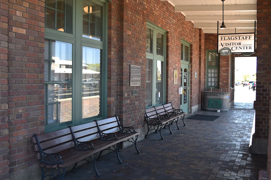 The Flagstaff Visitor Center at the old train depot.