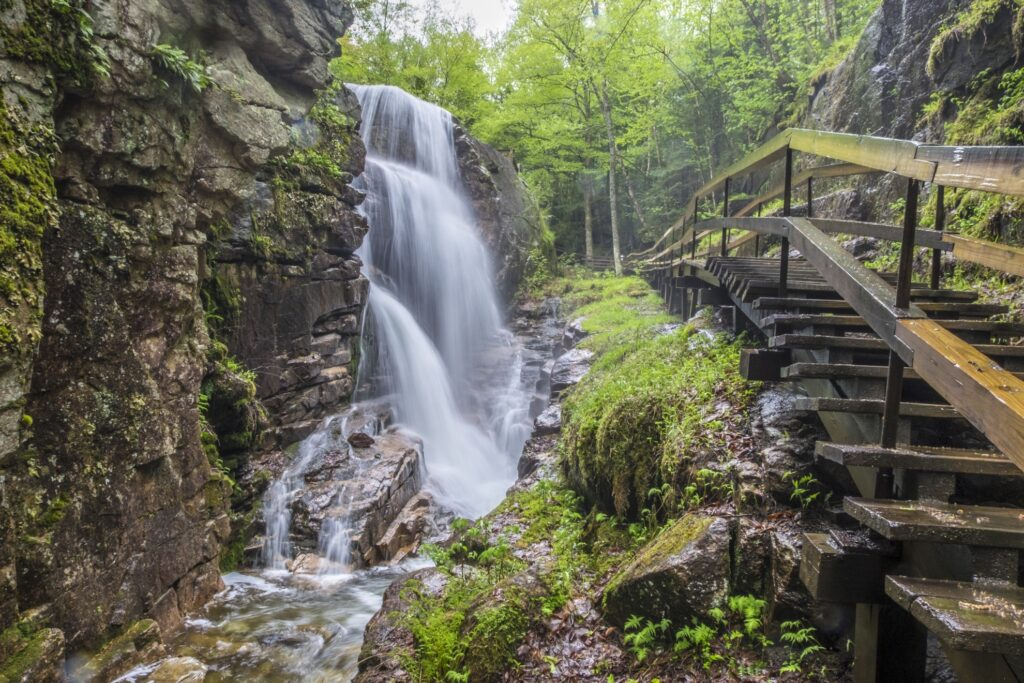 The Flume Gorge in Franconia Notch State Park.