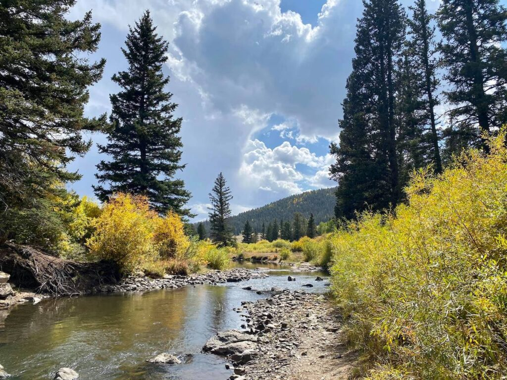 The fly fishing location the writer visited.