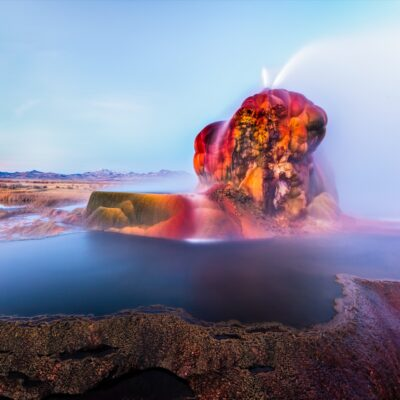 The Fly Geyser in Black Rock Desert, Navada.