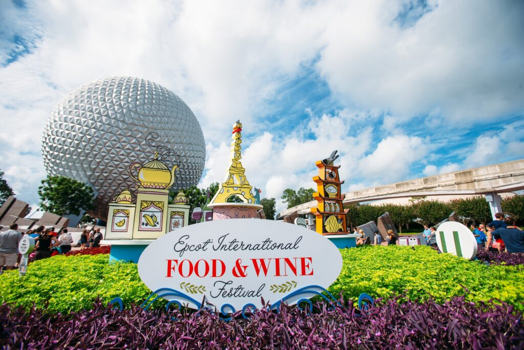 The Food and Wine Festival at Epcot.