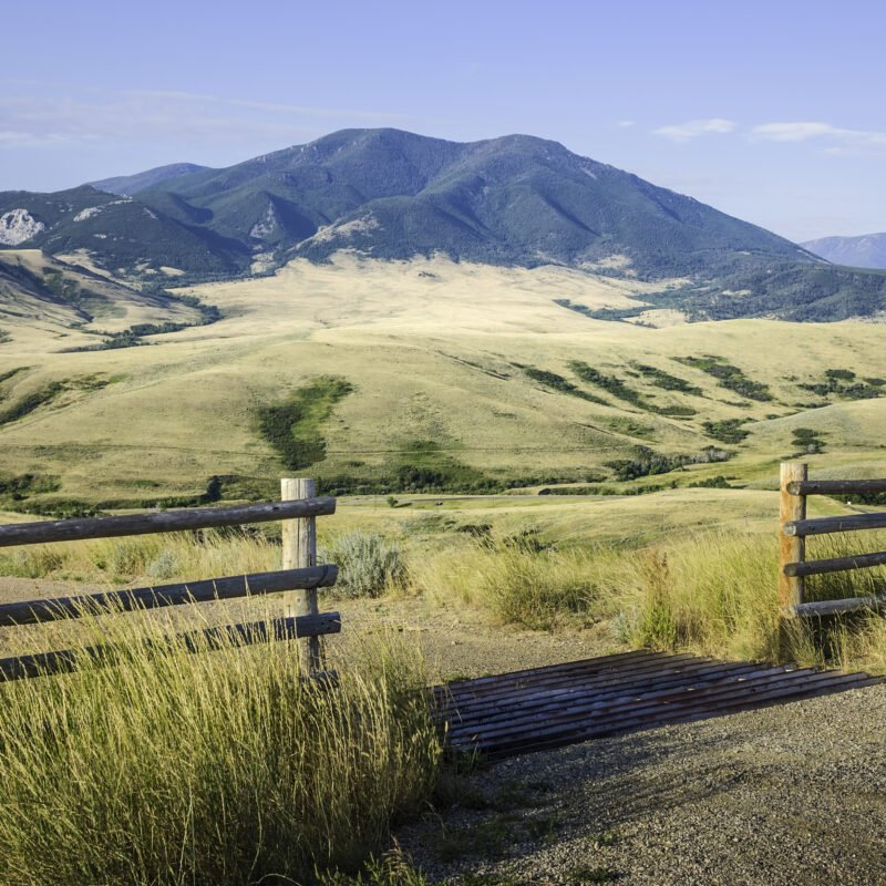 The foothills of Beartooth Mountains in Red Lodge, Montana.