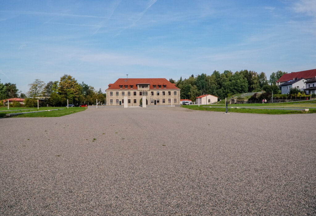 The former concentration camp in Flossenburg.