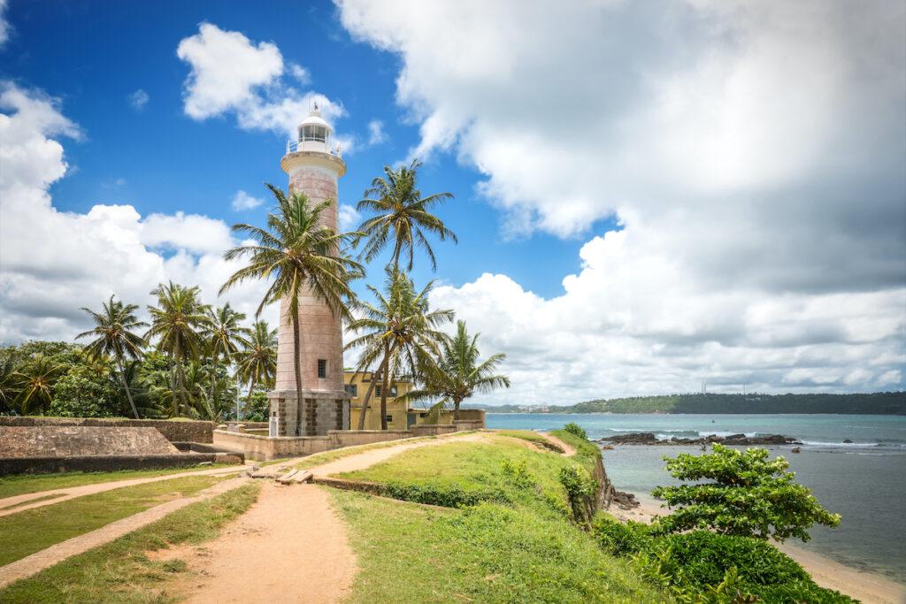 The Fort Galle lighthouse in Sri Lanka.