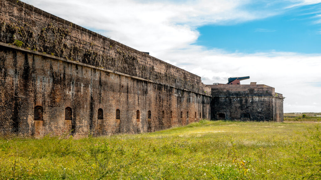The Fort Pickens military fort in Pensacola, Florida.