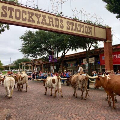 The Fort Worth Stockyards in Texas.