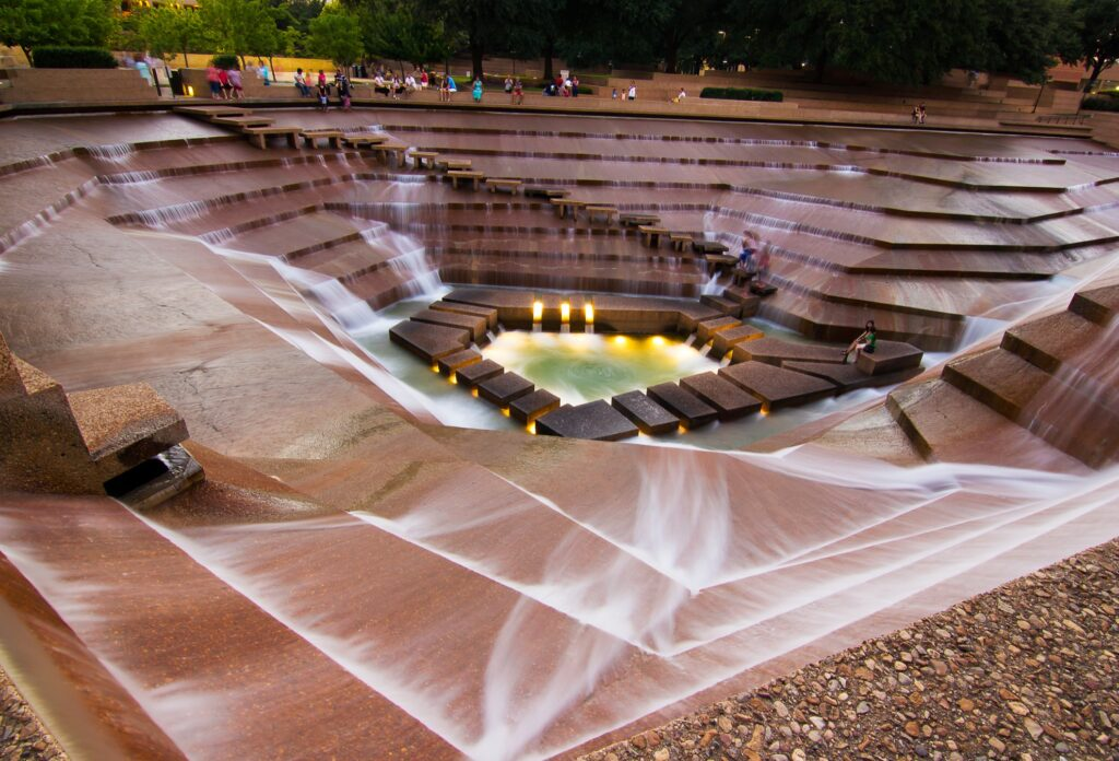 The Fort Worth Water Gardens.