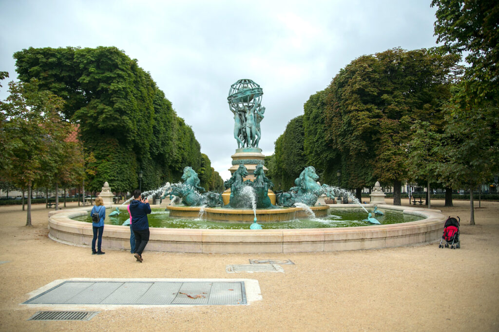The Four Parts Of The World Fountain in Paris, France.