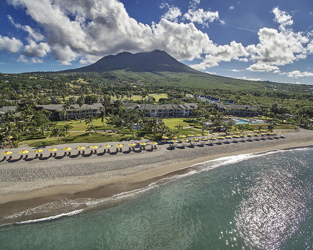 The Four Seasons Resort on the island of Nevis.