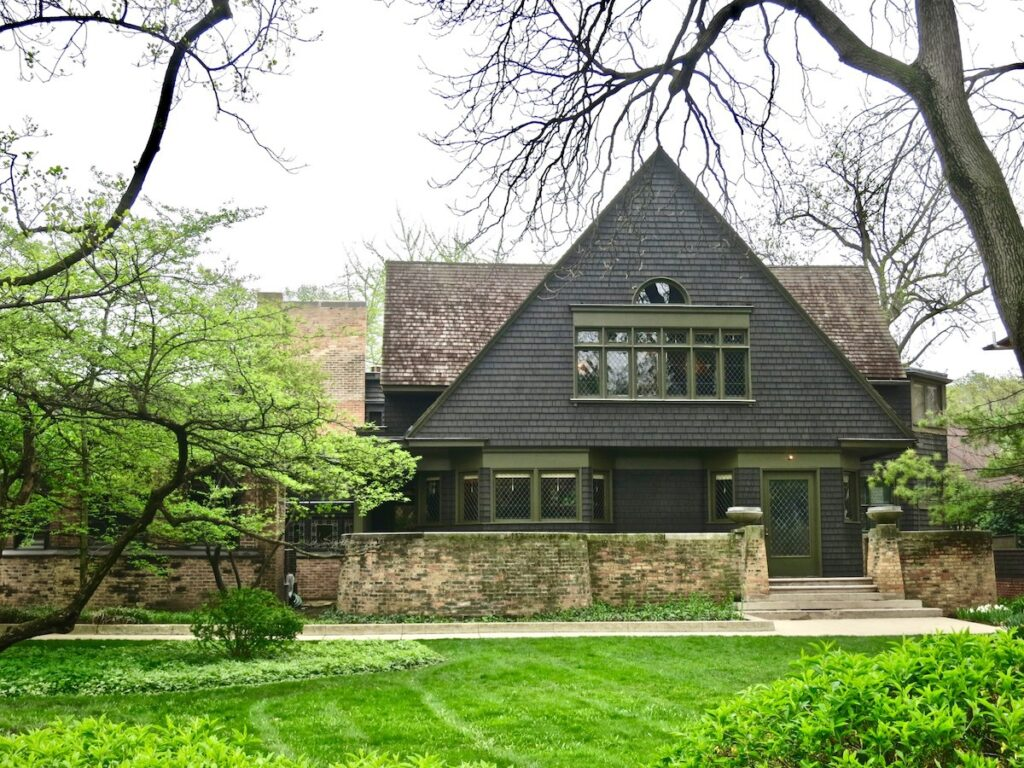 The Frank Lloyd Wright Home and Studio.
