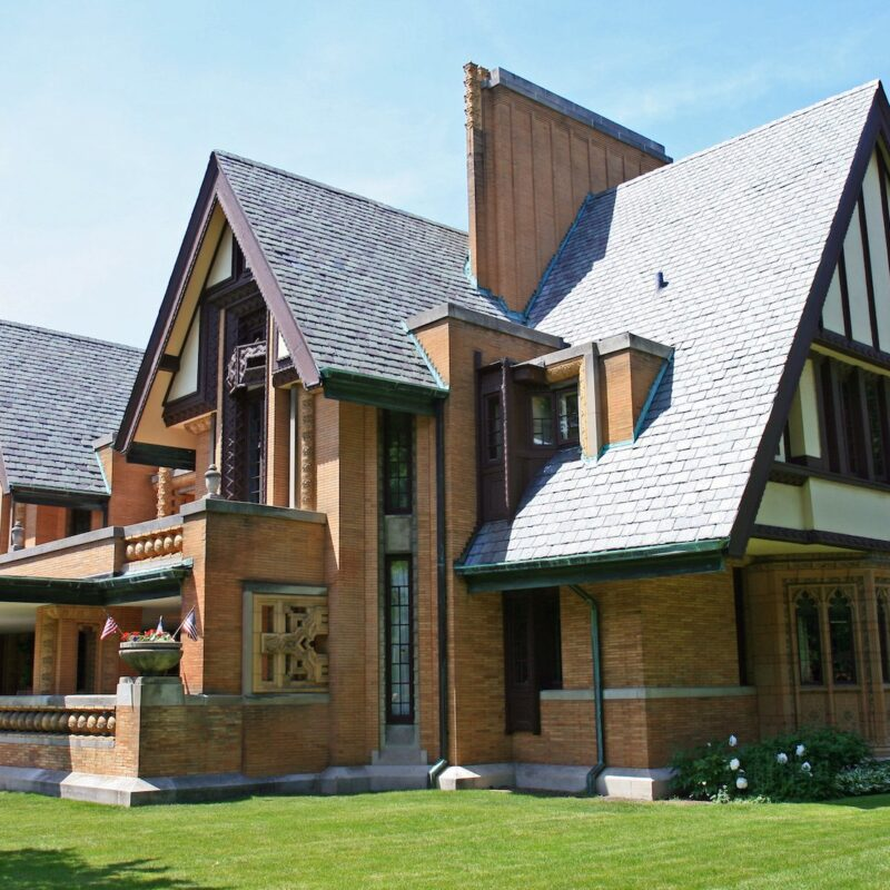 The Frank Lloyd Wright Home and Studio in Oak Park.