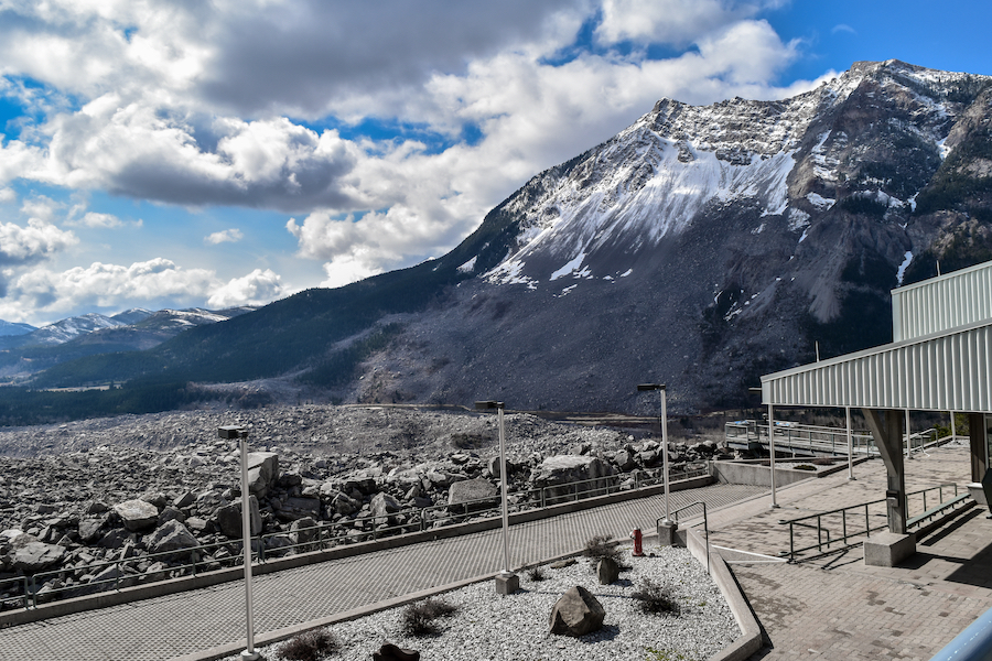 The Frank Slide in Canada.