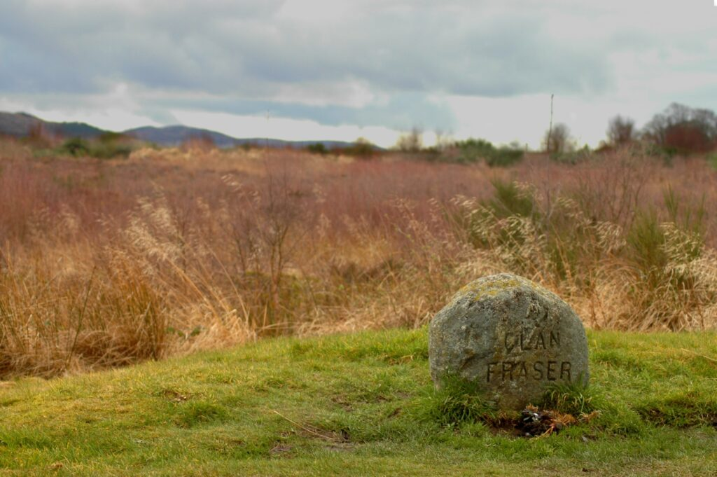 The Fraser grave in Culloden, Scotland.