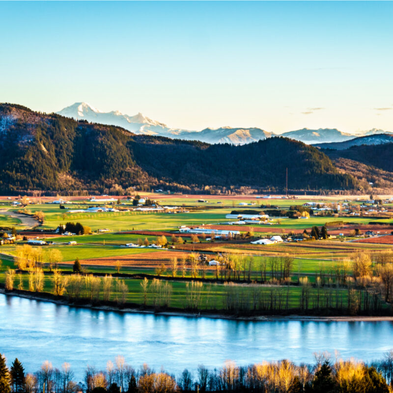 The Fraser Valleyin British Columbia on the Fraser River