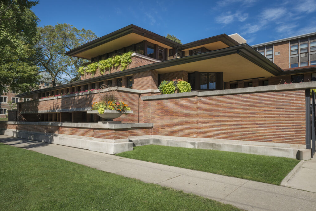 The Frederick C. Robie House in Chicago, Illinois.